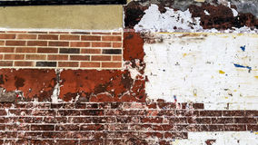 Backsteinmauer New York City Lizenzfreie Stockfotos