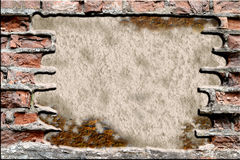 Backsteinmauer-Rahmen Stockfotografie