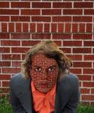 Backsteinmauer-Surrealismus stockbild