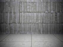 Backsteinmauer und Steinboden Stockbild