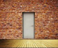 Backsteinmauer und Türen Lizenzfreie Stockfotos