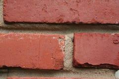 Backsteinmauer, verwittert Stockbild