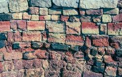Backsteinmauerbeschaffenheit Stockfotos