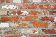 Backsteinmauerbeschaffenheit der hohen Qualität Stockbild