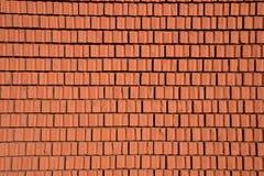Backsteinmauerbeschaffenheit des roten Steins blockiert Nahaufnahme Lizenzfreie Stockbilder