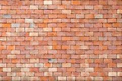 Backsteinmauerbeschaffenheit und Hintergrund des roten Backsteins mit Kopienraum Lizenzfreie Stockbilder