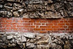 Backsteinmauerhintergrund Stockfoto