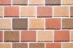 Backsteinmauerhintergrund, Beschaffenheit des roten Steins blockiert Nahaufnahme Lizenzfreie Stockfotos