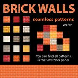 Backsteinmauern Vector nahtlose Muster vektor abbildung