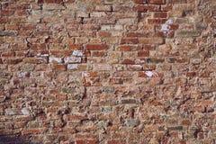 Backsteinmauernahaufnahme Stockfoto