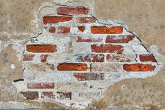 Backsteinmauernahaufnahme Lizenzfreies Stockfoto