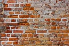 Backsteinmauernahaufnahme Lizenzfreie Stockfotos