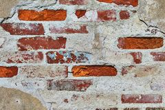 Backsteinmauernahaufnahme Lizenzfreies Stockbild