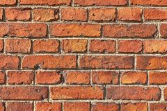 Backsteinmauernahaufnahme Stockbilder
