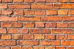 Backsteinmauernahaufnahme Lizenzfreie Stockfotografie