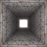 Backsteinmauertunnel Lizenzfreie Stockfotos