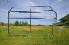 Backstop старого поля бейсбола Стоковые Изображения RF