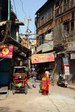 Backstreet. Παλαιό Δελχί, Ινδία. στοκ εικόνες
