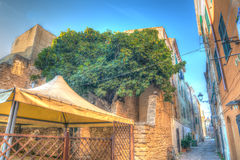Backstreet in Alghero old town Royalty Free Stock Photography