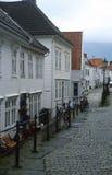 Backstreet in Bergen, Noorwegen royalty-vrije stock afbeeldingen
