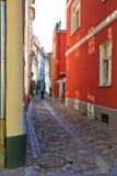 Backstreet bonito de Riga Imagem de Stock