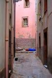 Backstreet in Bosa, Italy Royalty Free Stock Photo