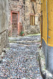 Backstreet in Bosa old town in hdr Royalty Free Stock Photos