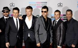 Backstreet Boys en Nieuwe Jonge geitjes op het Blok Stock Fotografie