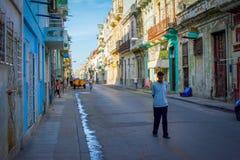 Backstreet de Havana imagem de stock