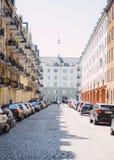 Backstreet di Copenhaghen Fotografie Stock