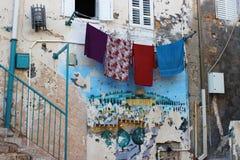 Backstreet do Jerusalém de Atmosperic Imagem de Stock