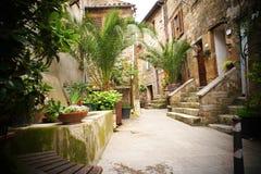 Backstreet In An Italian Village Stock Photo