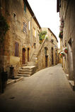 Backstreet in an italian village Stock Photos