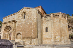 Iglesia de San Miguel church on a hill in Daroca Stock Image