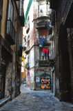 Backstreet in Naples Stock Images