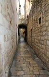 Backstreet. Backstreet in old part of Dubrovnik, Croatia Royalty Free Stock Image
