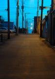 Backstreet, Shawinigan; , Canadá (versão branca do balanço) fotografia de stock royalty free