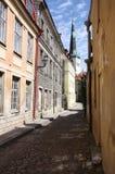 Backstreet in Tallinn Royalty-vrije Stock Afbeelding