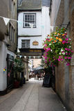 Backstreet to restaurant, Oxford Royalty Free Stock Photo