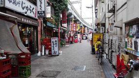 A backstreet in Tokyo Royalty Free Stock Photo