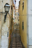 Backstreet view in Lisbon Portugal Stock Image