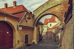 Backstreet view, Sibiu, Romania Royalty Free Stock Images