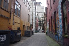 Backstreet view Vancouver's Gastown Royalty Free Stock Images