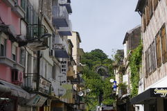 Backstreet w fort-de-france mieście na Styczniu 9, 2017 Fort-de-France jest capit Obrazy Stock