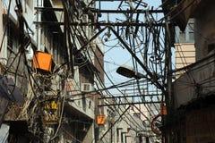 Backstreets eclettici Vecchia Delhi, India Fotografia Stock