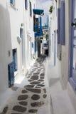 Backstreets of Mykonos,Greece. Image of Backstreets of Mykonos,Greece Stock Photos