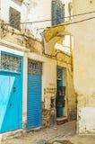 Backstreets van Sfax, Tunesië royalty-vrije stock afbeelding