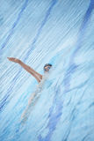 Backstroke,back crawl swimming Royalty Free Stock Photo