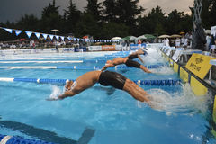 Backstroke starting Stock Photography