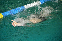 Backstroke swimming Royalty Free Stock Photo